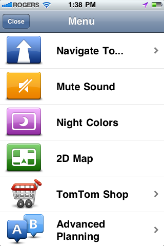 TomTom iPhone App